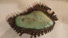 Vintage Don Staats turquoise belt buckle