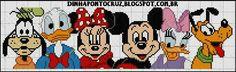 Mickey Mouse e sua turma ( grafico Dinha ponto cruz)