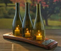 Tealight Holder for Recycled Wine Bottles (Set of - Wine E .- Teelichthalter für recycelte Weinflaschen – Wine Enthusiast Tea Light Holder for Recycled Wine Bottles (Set of – Wine Enthusiast – – of 3 - Old Wine Bottles, Recycled Wine Bottles, Wine Bottle Crafts, Empty Bottles, Wine Bottle Candles, Wine Barrel Crafts, Wine Bottle Chandelier, Wine Bottle Lighting, Alcohol Bottle Crafts