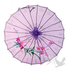 Purple Hand Painted Sheer Parasol KoyalWholesale.com - Great photo op!  #parasols #wedding umbrellas #wedding decor
