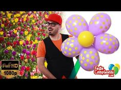 Big Flower Balloon Art - Fiore Gigante Decorazione - Tutorial 158 - YouTube Flower decoration Balloon Art, how to make a big flower with balloon. Fiore gigante con palloncini, come realizzare un fiore per le vostre decorazioni.