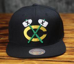 Chicago Blackhawks Mitchell & Ness Vintage Wool Snapback Hat