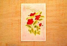 Pinta una tarjeta flores con acuarelas y caligrafía artística