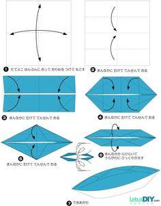 diy origami boat - no sail