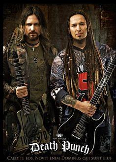 Jason Hook and Zoltan Bathory of Five Finger Death Punch