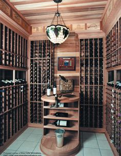 At only 6' wide, this is basically a wine closet ... a wine cellar for average people!