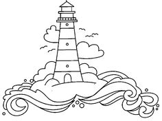 Advanced Coloring Pages of Houses   sheets lighthouse coloring ...