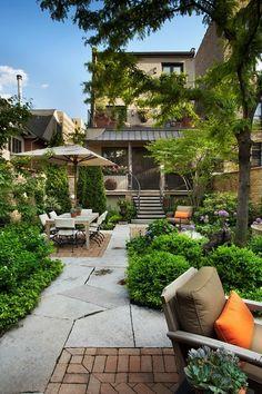 Landscaped patio design