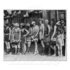 Beautiful Women and One Little Girl 1920 Posters from Zazzle.com