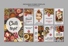 Instagram stories template for mexican r... | Free Psd #Freepik #freepsd #food #menu #template #restaurant Banner Vector, Banner Template, Menu Template, Instagram Banner, Food Instagram, Food Web Design, Fb Banner, Instagram Post Template, Photoshop