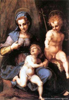 Andrea del Sarto – Madonna col Bambino e san Giovannino (1515 circa), Roma, Galleria Borghese