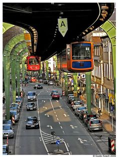 Wuppertal Suspension Railway, Germany.
