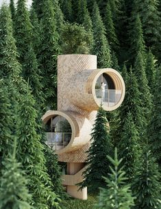 Image 10 of 14 from gallery of Studio Precht Designs Truncated Tiny-Home Treehouses for Baumbau. Image Courtesy of Studio Precht Architecture Design, Amazing Architecture, Conceptual Architecture, Architecture Board, Tiny House, Architecture Religieuse, Cabin In The Woods, Tree House Designs, Building Systems