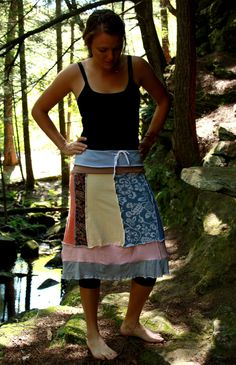 Eco Upcycled Technicolor Dream Skirt - Pastel Multi Size Medium 6/8. $52.00, via Etsy.