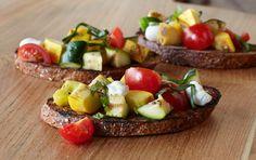 Grilled Garden Vegetable Bruschetta: Great for You Recipe! #client
