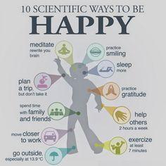 10 modi per essere felici