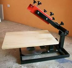 Screen Printing Press, Drafting Desk, Stencils, Screenprinting, Welding, Prints, Furniture, Table, Home Decor
