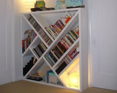 Un mueble para CDs, películas, libros..