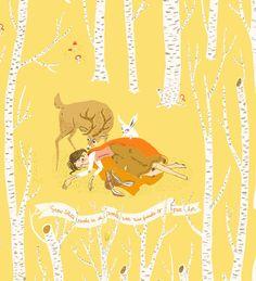 Heather Ross fabric print: Snow White series