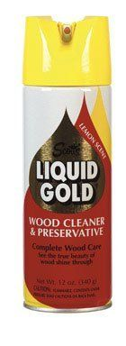 Scott's LA14 12 Oz Lemon Scotts Gold Aerosol Wood Cleaner and Preservative by Scotts. Save 12 Off!. $6.15. Scott's LA14 12 Oz Lemon Scotts Gold Aerosol Wood Cleaner and PreservativeScott's 12 OZ Liquid Gold Aerosol Lemon Scented Wood Cleaner and Preservative, Penetrating Action Works Against Dust, Dirt, Age and Use, As Well As Dryingand Cracking Caused By Heating and Air Conditioning Systems, Inhibits Warping, Shrinking, and Color Loss, Contains No Solids, Abrasives Or Wax To Build Up On…