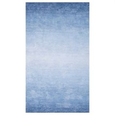Add a contemporary touch to your space with the Nuloom Ombre Bernetta Rug. This rug will be the focal point in any room with it's striking ombre design. It features vibrant hues that will give your space a pop of color. Large Area Rugs, Blue Area Rugs, Blue Rugs, Affordable Rugs, Area Rug Sizes, Cow Hide Rug, Blue Ombre, Home Depot, Colorful Rugs