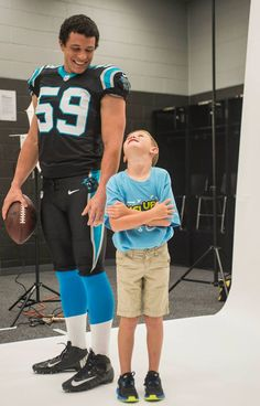Panthers player Luke Kuechly filmed an advertisement for the Dairy Association yesterday. See more photos here: http://pnth.rs/15yM2eG