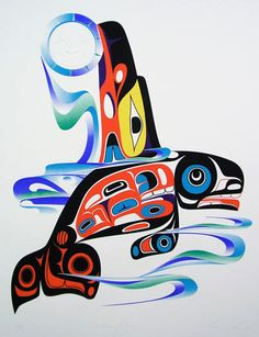 Moon Catcher by Marvin Oliver Arte Haida, Haida Art, Native American Wisdom, Native American Artists, Arte Tribal, Tribal Art, Eagle Art, Tlingit, Inuit Art