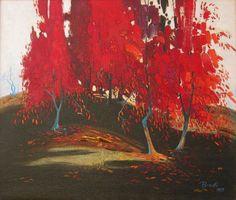 Red Autumn, 1989 - oil, 70 x 60 cm - Pashk Pervathi