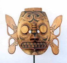 A great early mask with strong expression. Asia, Indonesian Art, Cool Masks, Cultural Diversity, Visionary Art, Ocean Art, Borneo, Gourd, Tribal Art