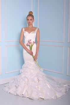 Sweetheart Mermaid Wedding Dress  with No Waist/Princess Seams in Silk Satin. Bridal Gown Style Number:33398892