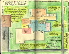 Sketch a FloorPlan = Memories = such as Childhood Home, Vacation Home, etc ~ Scrapbook, SMASH book, Project Life, Journal, Travel Journal