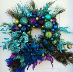 Christmas Peacock Wreath XXL. $229.00, via Etsy. by regina