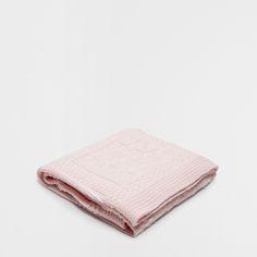 Afbeelding 1 van het product Roze Katoenen Tricot Deken