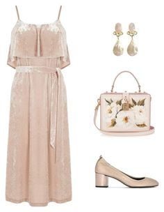 """Pink crush"" by amanda-wilson-colson on Polyvore featuring Warehouse, Lanvin and Dolce&Gabbana"