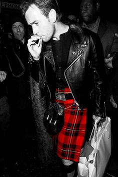 Men in kilts are hot. Ewan is surface of the sun hot. Ewan in a kilt and a leather jacket just made me unfit for any other man. goodness.