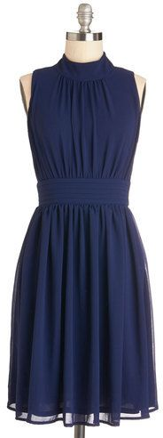 East Concept Fashion Ltd Windy City Dress in Navy