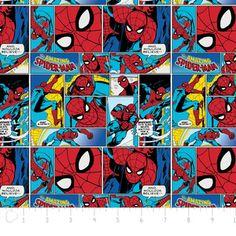 Camelot Cottons House Designer - Marvel Comic II - Spiderman in Multi