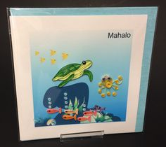 Mahalo (Thank You) Underwater Scene Quill Card