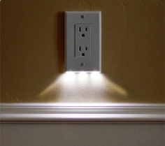 Night light outlet covers use $0.05 of electricity per year - would be great in the hallway to the bathroom!