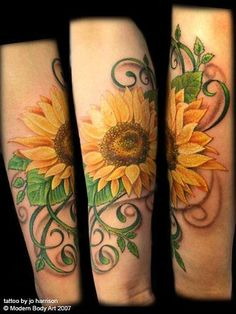 sunflower tattoos - Google Search