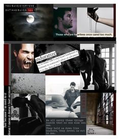 """""""Teen Wolf: Collage: Lone Derek"""" by jess-nichole ❤ liked on Polyvore featuring art"""