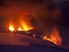 Eruption at Eyjafjallajokull glacier Photographic Print at Art.co.uk