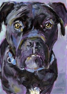 "Daily Paintworks - ""WINSTON"" - Original Fine Art for Sale - © Jean Delaney"
