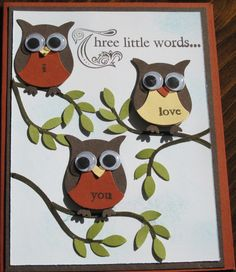 Owl Punch Card - Three Little Words : StampingGenie's Style