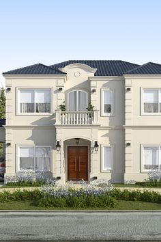 Classic House Exterior, Classic House Design, Dream House Exterior, House Paint Exterior, Exterior Design, Neoclassical Architecture, Modern Architecture, House Outside Design, House Plans Mansion