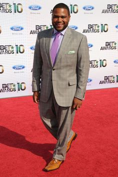 Anthony Anderson — The 50 Most Stylish Fat Guys of All Time Mens Plus Size Fashion, Tall Men Fashion, Men's Fashion, Big And Tall Style, Mens Big And Tall, Tall Guys, Big Guys, Clothes For Big Men, Anthony Anderson