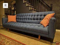 Sofa Reupholstery, Furniture Upholstery, Cool Furniture, Plastic Adirondack Chairs, Sofa Frame, Diy Sofa, Tufted Sofa, Wall Carpet, Leather Sectional