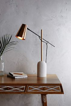 Slanted Copper Table Lamp - anthropologie.com