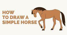 Easy to follow step-by-step tutorial to drawing a Simple Horse. Follow the simple instructions and in no time you've created a great looking Horse drawing.