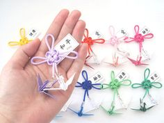 ímã decorativo || tsuru casal e nó chinês * wedding - Sakura Origami & Acessórios